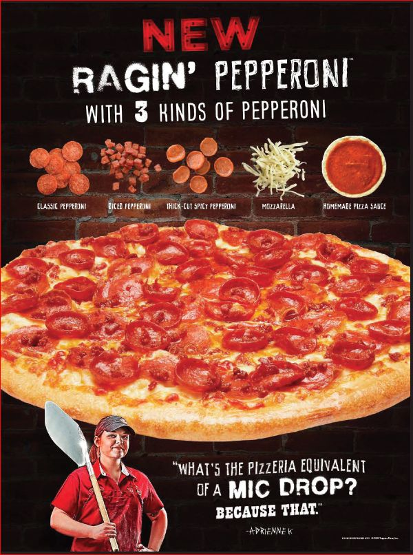 Toppers Pizza Unleashes Triple the Pepperoni with Ragin' Pepperoni