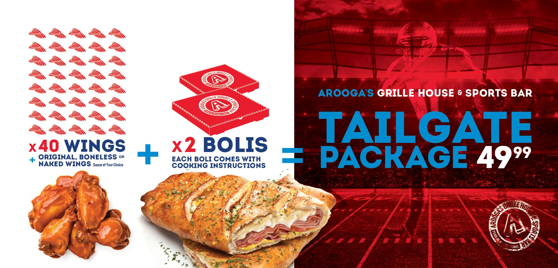 Arooga's Has Big Plans for the Big Game That Should Include You