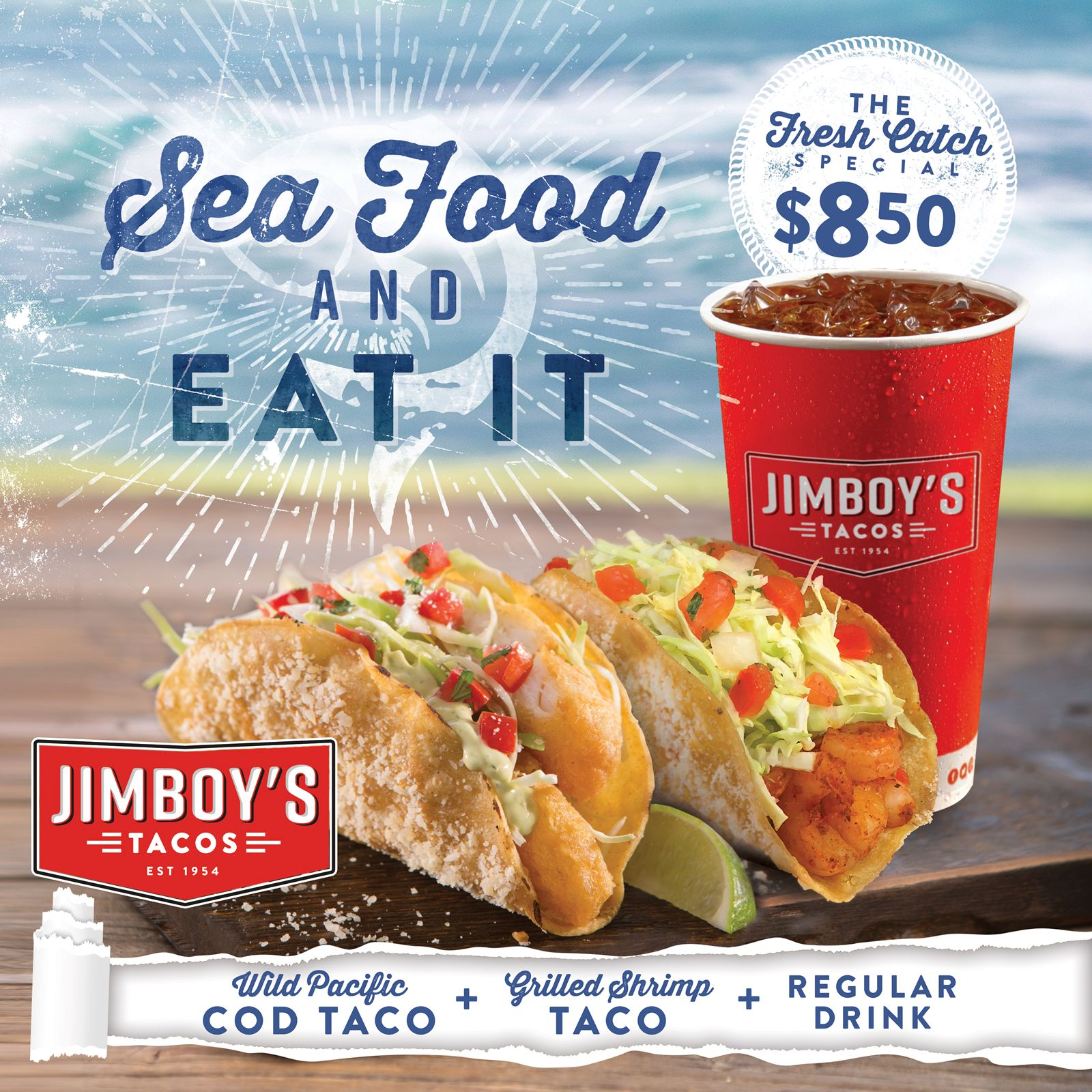 Jimboy's Tacos Seafood Combo is Off the Hook