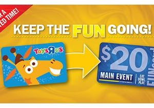 "Main Event Is Breathing Fun Back Into Toys ""R"" Us Gift Cards"