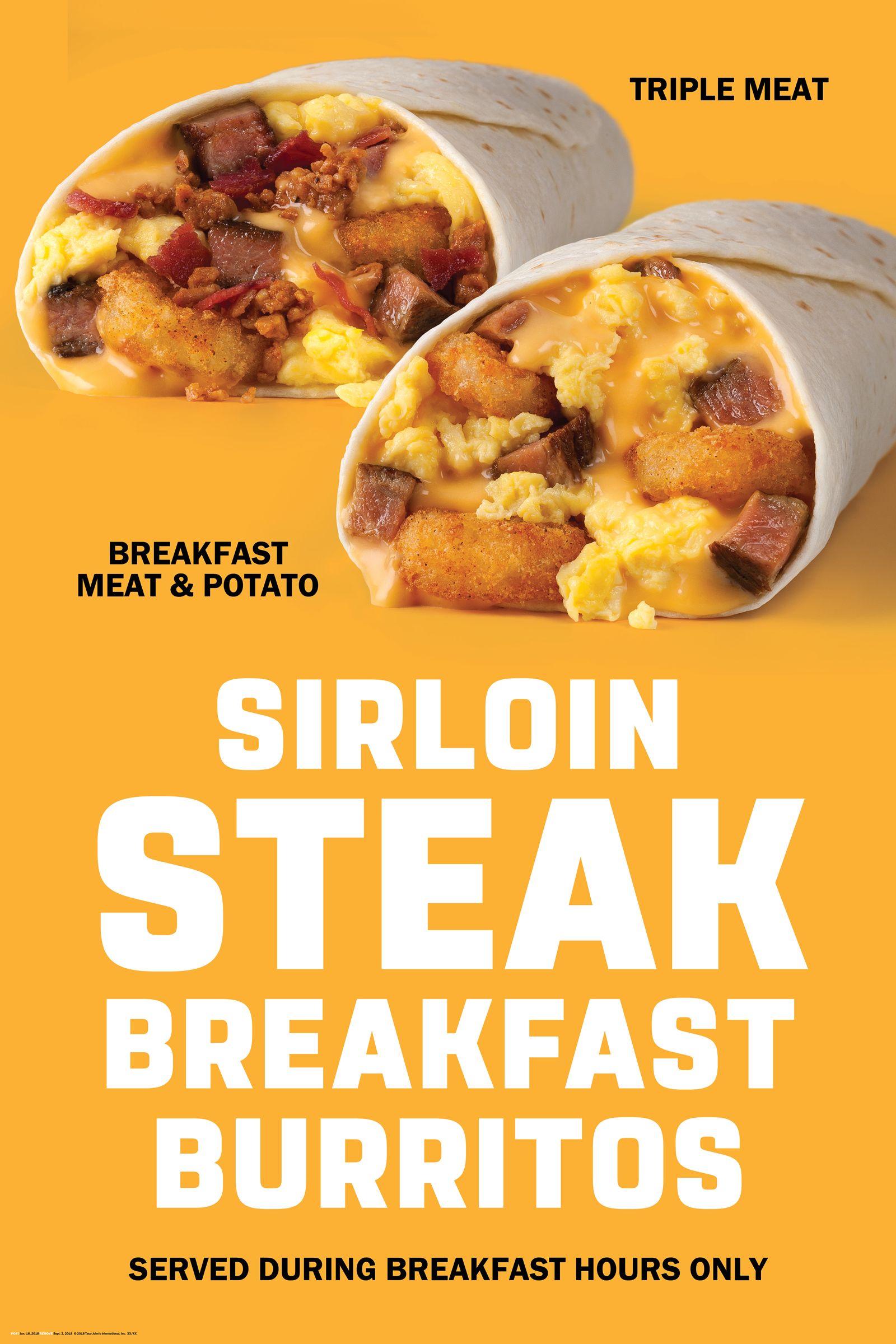 Taco John's Introduces Six New Sirloin Steak Burritos