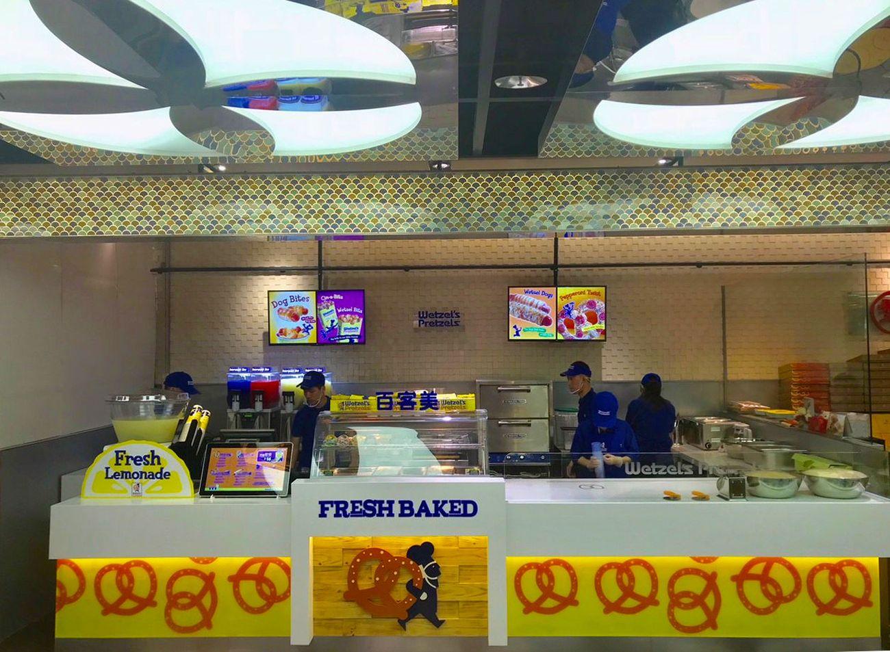 Wetzel's Pretzels Opens First Location in China