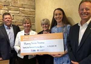 Wyoming Businesses Make $22,054 Donation to Local Suicide Prevention Programs
