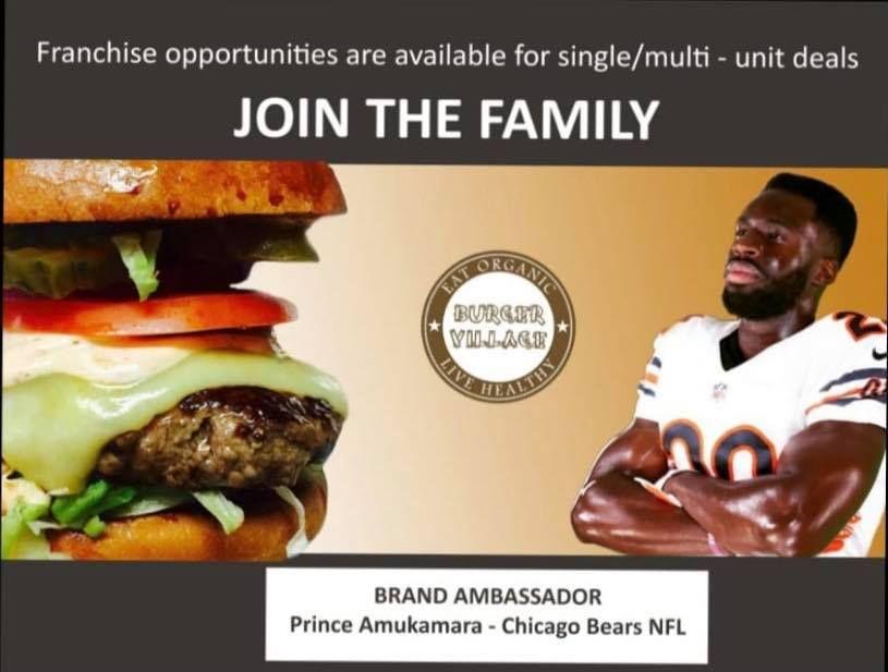 Burger Village Signs with NFL Star Prince Amukamara of the Chicago Bears as Brand Ambassador