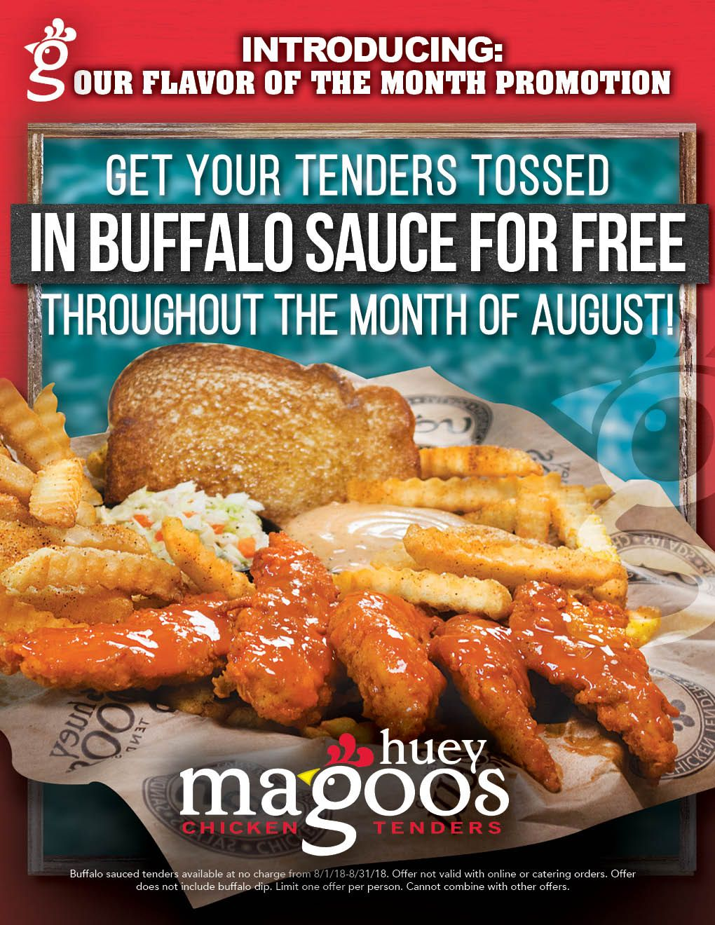 """Enjoy FREE Sauce On Your Tenders With Huey Magoo's """"Flavor Of The Month"""" Promotion"""