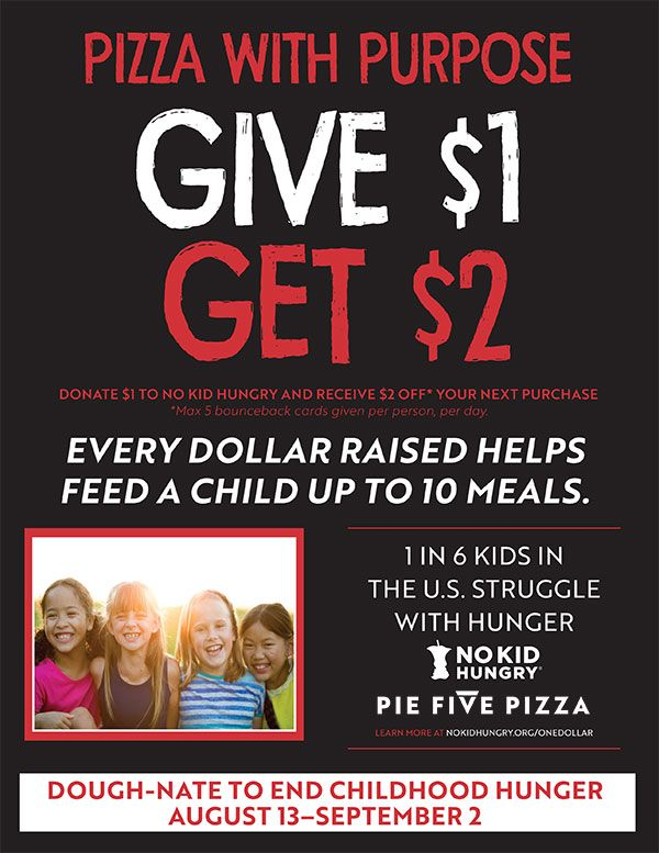 Dough-nate to Help End Childhood Hunger at Pie Five