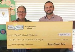 Sunny Street Café in Roanoke Raises over $10,000 for Ranch Hands Rescue