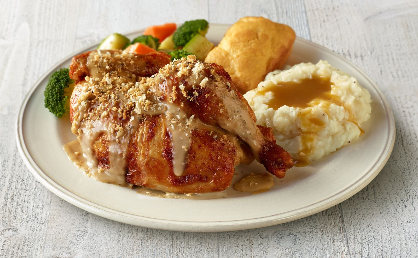 Boston Market Roasted Garlic & Herb Rotisserie Chicken