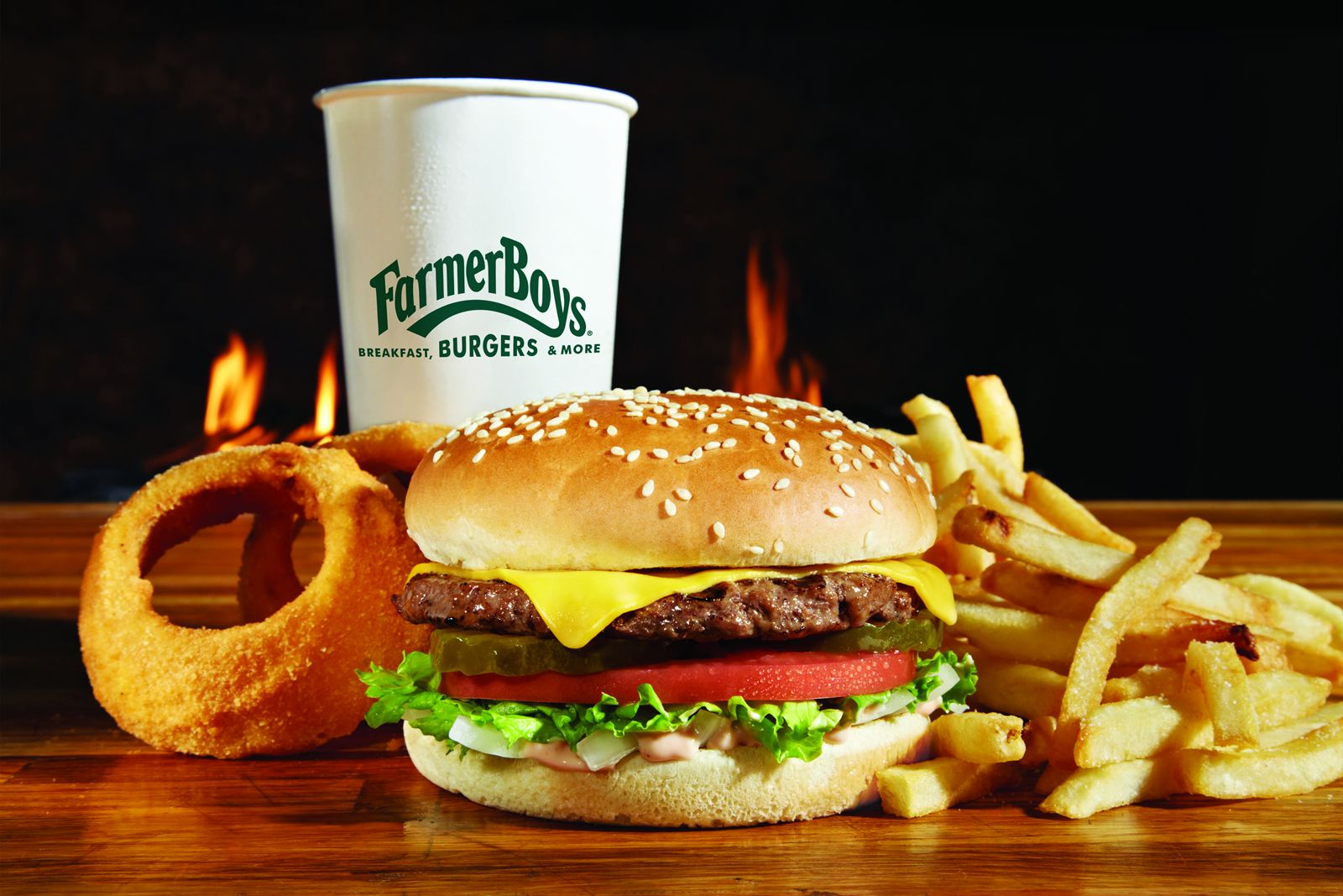Farmer Boys, the farm-fresh fast casual burger concept, will celebrate the Grand Opening of its tenth Orange County restaurant in Irvine (17380 Red Hill Avenue) from Tuesday, October 16 - Sunday, October 21 with various menu specials, a prize wheel, and the chance to win free Farmer Boys food for one year.