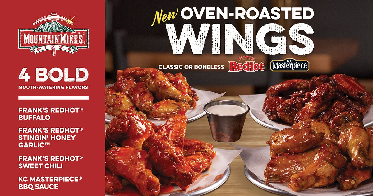 Mountain Mike's Pizza Ups Its Wing Game with Frank's RedHot