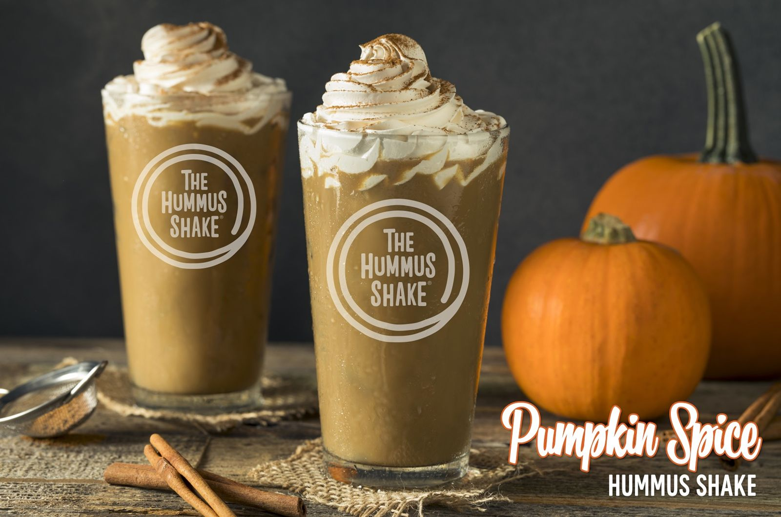 The Hummus & Pita Co. has launched a new Pumpkin Spice Hummus Shake and Pumpkin Pie Dessert Hummus at all of its locations.