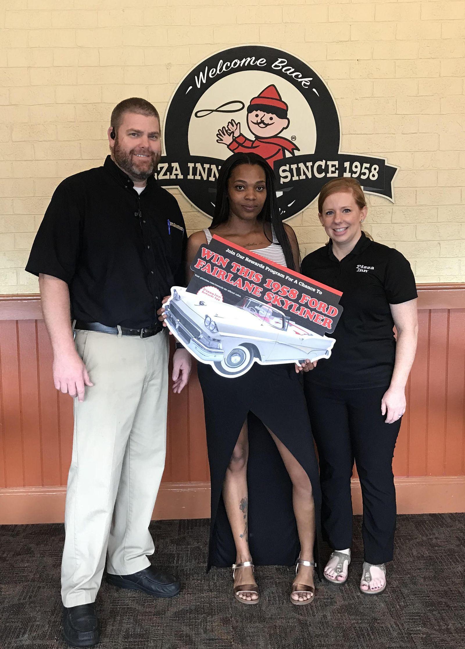 Pizza Inn Announces Winner of 1958 Ford Fairlane Skyliner