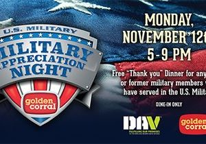 Golden Corral Honors U.S. Military on 18th Annual Military Appreciation Night
