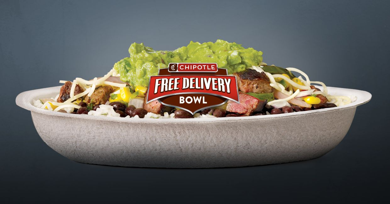 chipotle free delivery sunday