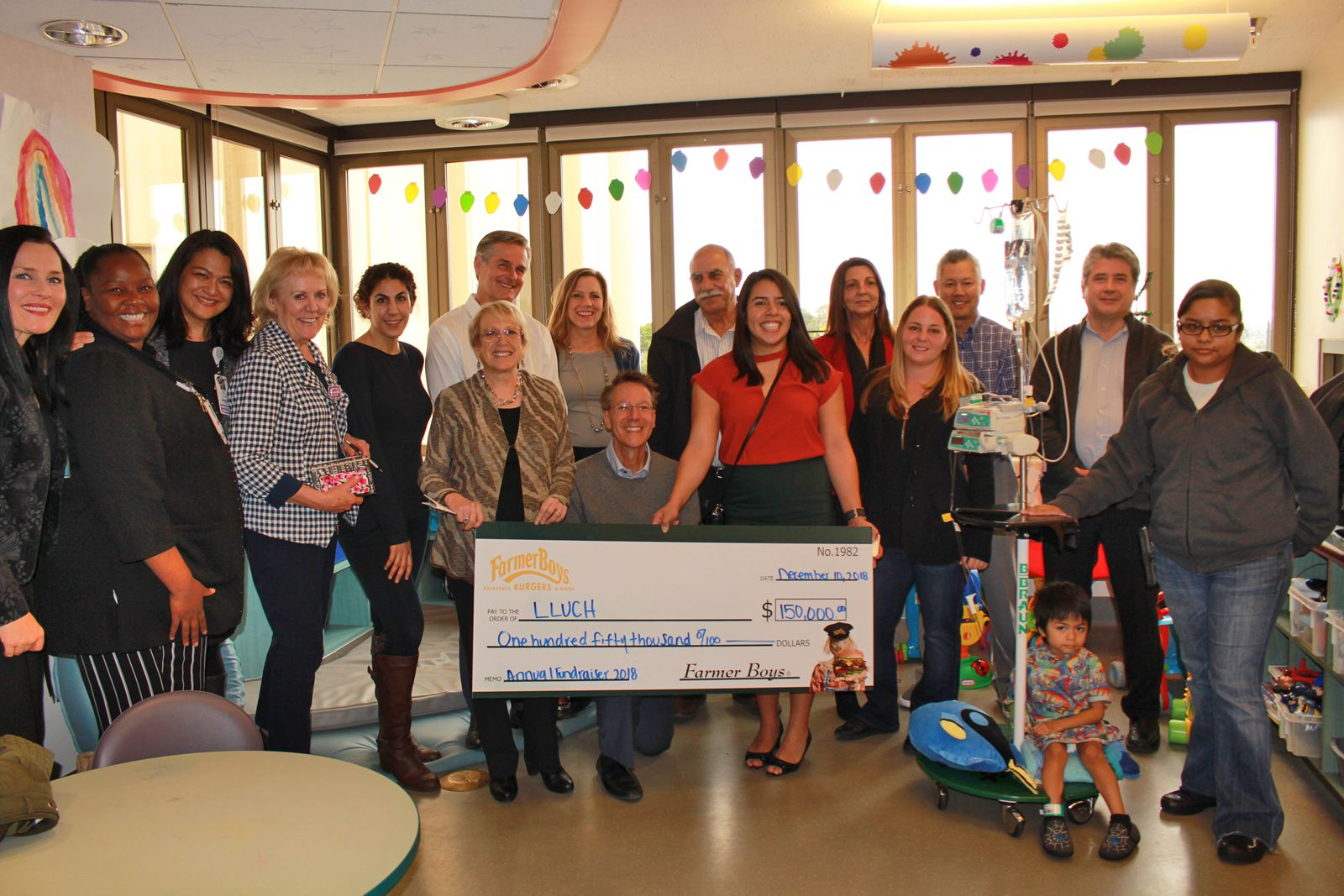 Farmer Boys raised $150,000 for Loma Linda University Children's Hospital (LLUCH) during their 18th annual LLUCH fundraiser, which took place in-store at participating California restaurants earlier this year.