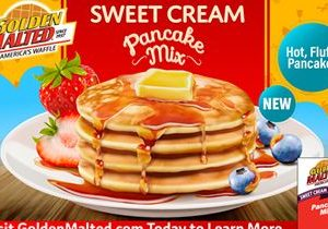 Golden Malted Waffles & Pancakes Introduces New Sweet Cream Pancake Mix