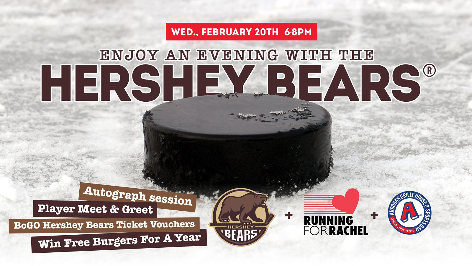 Arooga's Grille House & Sports Bar to Host Seventh Annual 'Running For Rachel' Fundraiser February 20th