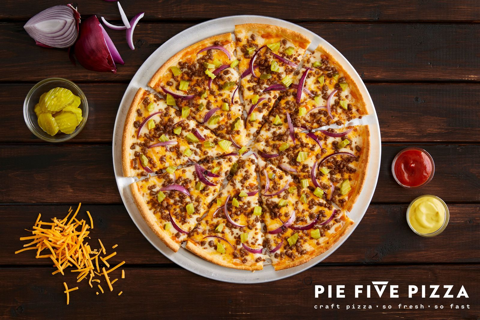 Pie Five Debuts the Perfect Pizza for Burger Lovers