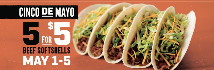 Celebrate Cinco with Five Days of Value at Taco John's