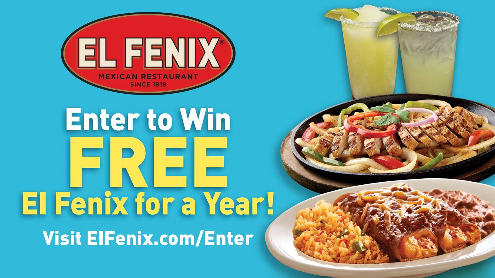 El Fenix Offering Guests the Chance to Win FREE El Fenix for a YEAR
