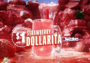 Get Your Squad and Head to Applebee's for a STRAWBERRY DOLLARITA with a TWIZZLERS