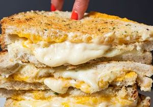 "Melt Shop Debuts Triple Decker ""Notorious Chz"" for National Grilled Cheese Month"