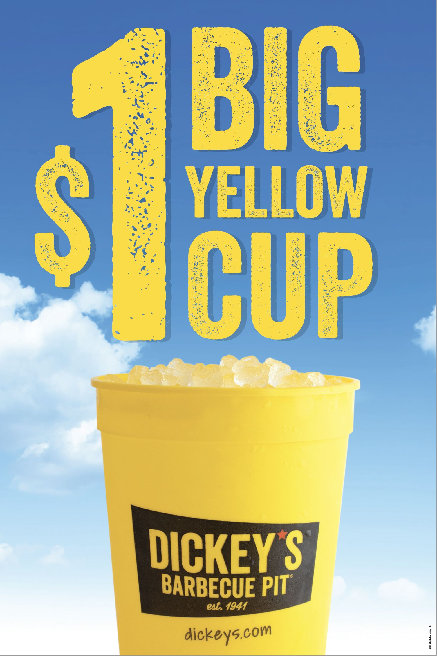 Dickey's Barbecue Pit offers $1 Big Yellow Cup for a limited time