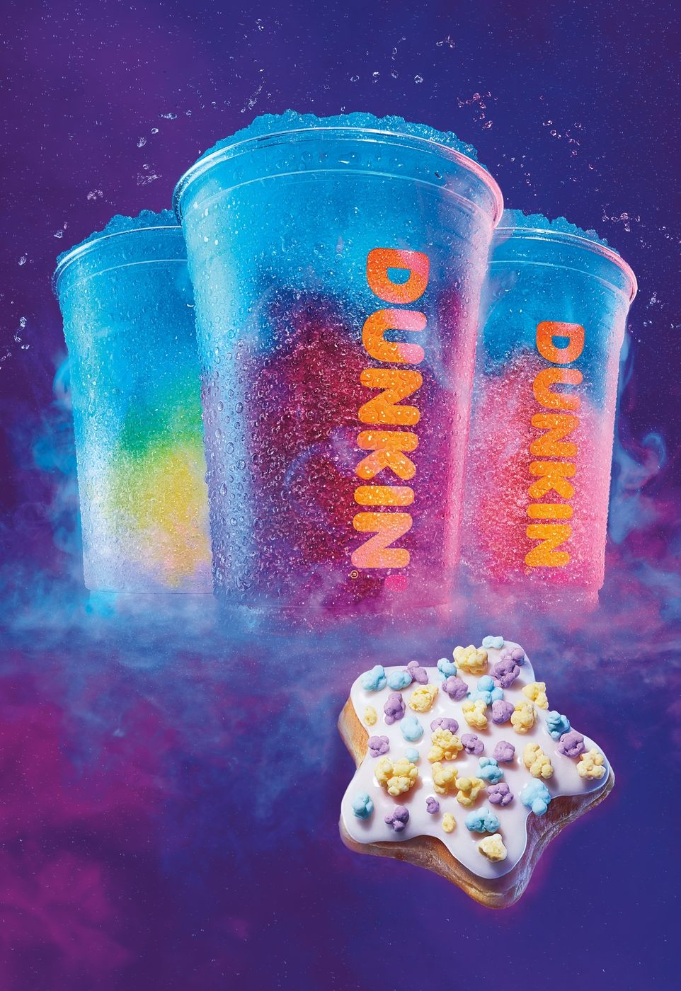 Dunkin's Out-of-This-World Seasonal Menu Features Cosmic COOLATTA Frozen Beverages and Baskin-Robbins Ice Cream Flavored Coffees