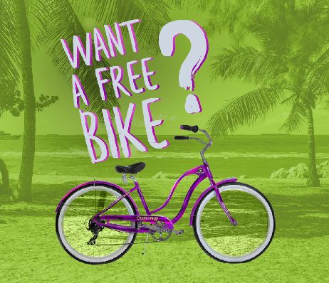 Help Save the Rainforest & Enter to Win a Custom Purple Beach Cruiser at Juice It Up!