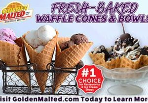 Add Fresh-Baked Waffle Cones & Bowls to Your Menu –  It's Easy with Golden Malted