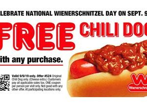 Celebrate National Wienerschnitzel Day with America's Favorite Chili Dog