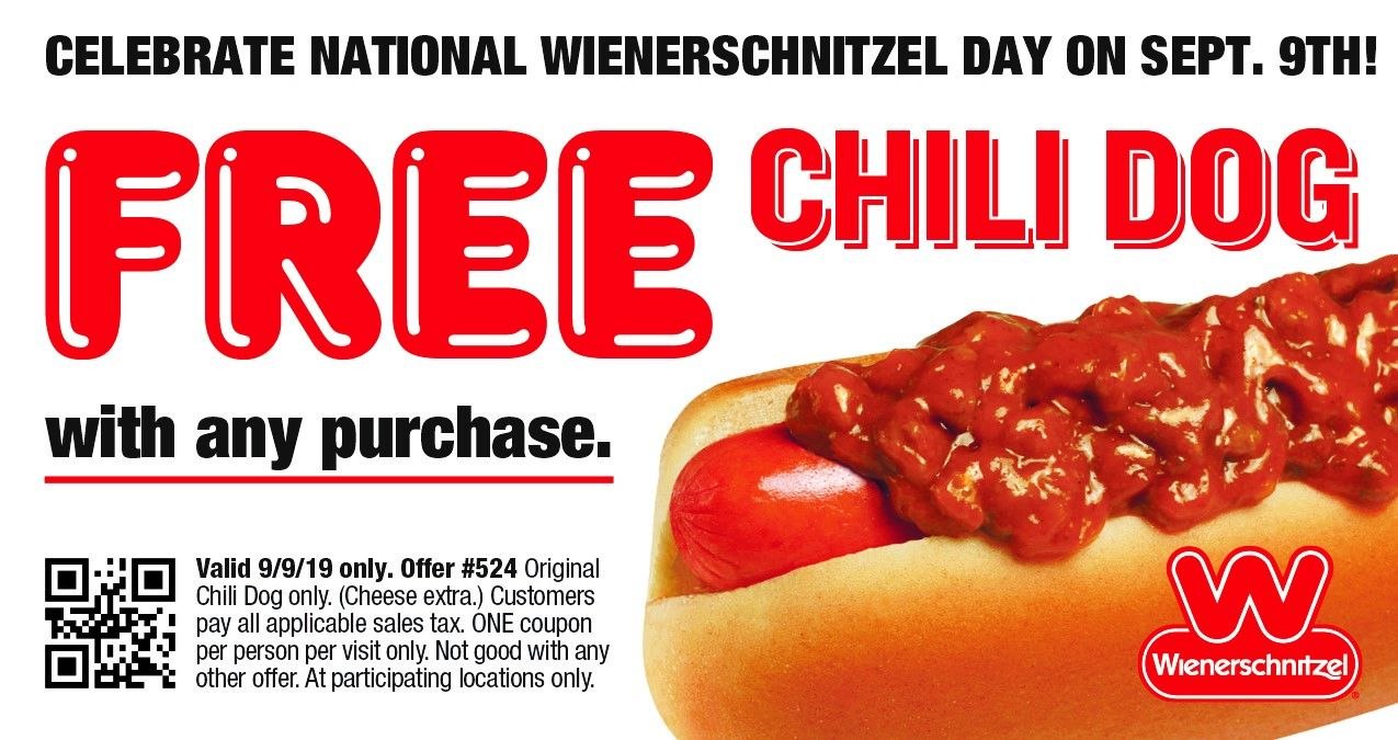 Celebrate National Wienerschnitzel Day with America's Favorite Chili Dog