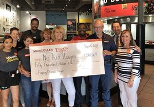 Genghis Grill Donates $50,000 Check to No Kid Hungry