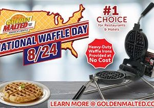 National Waffle Day is Coming – Add Golden Malted Waffles to Your Menu