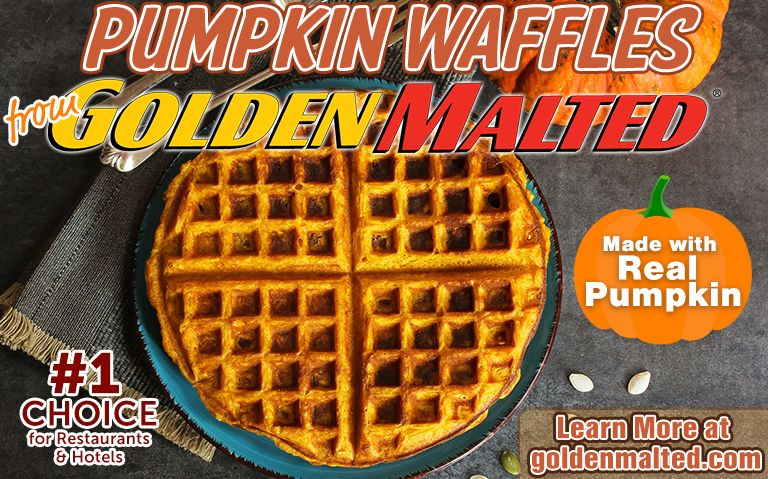 Serve Pumpkin Waffles this Fall - Golden Malted Makes it Quick & Easy
