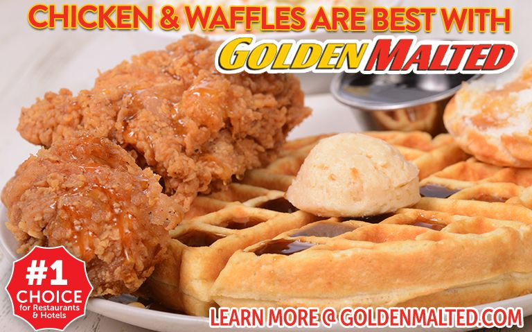 Chicken & Waffles are Best with Golden Malted