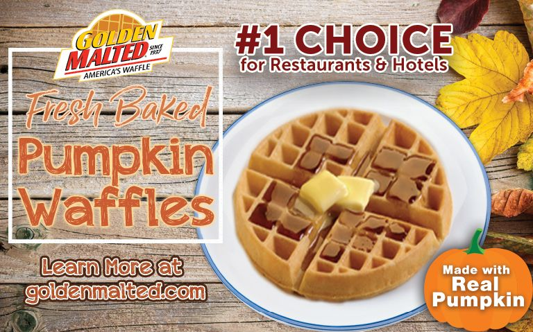 Fall is Here - Add Golden Malted Pumpkin Waffles to Your Menu