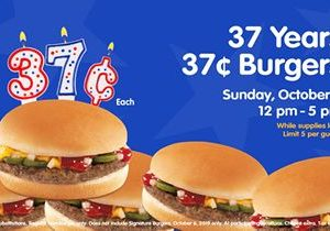 Hamburger Stand Celebrates 37th Anniversary with 37-Cent Burgers!