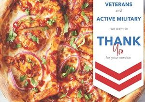California Pizza Kitchen Thanks and Honors Our Nation's Veterans and Active Military with a Complimentary Meal This Veterans Day, November 11