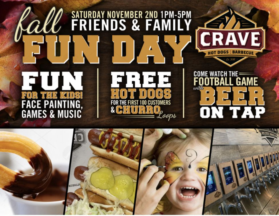 Crave Hot Dogs and BBQ set for Fall Fun Day in Dawsonville, GA