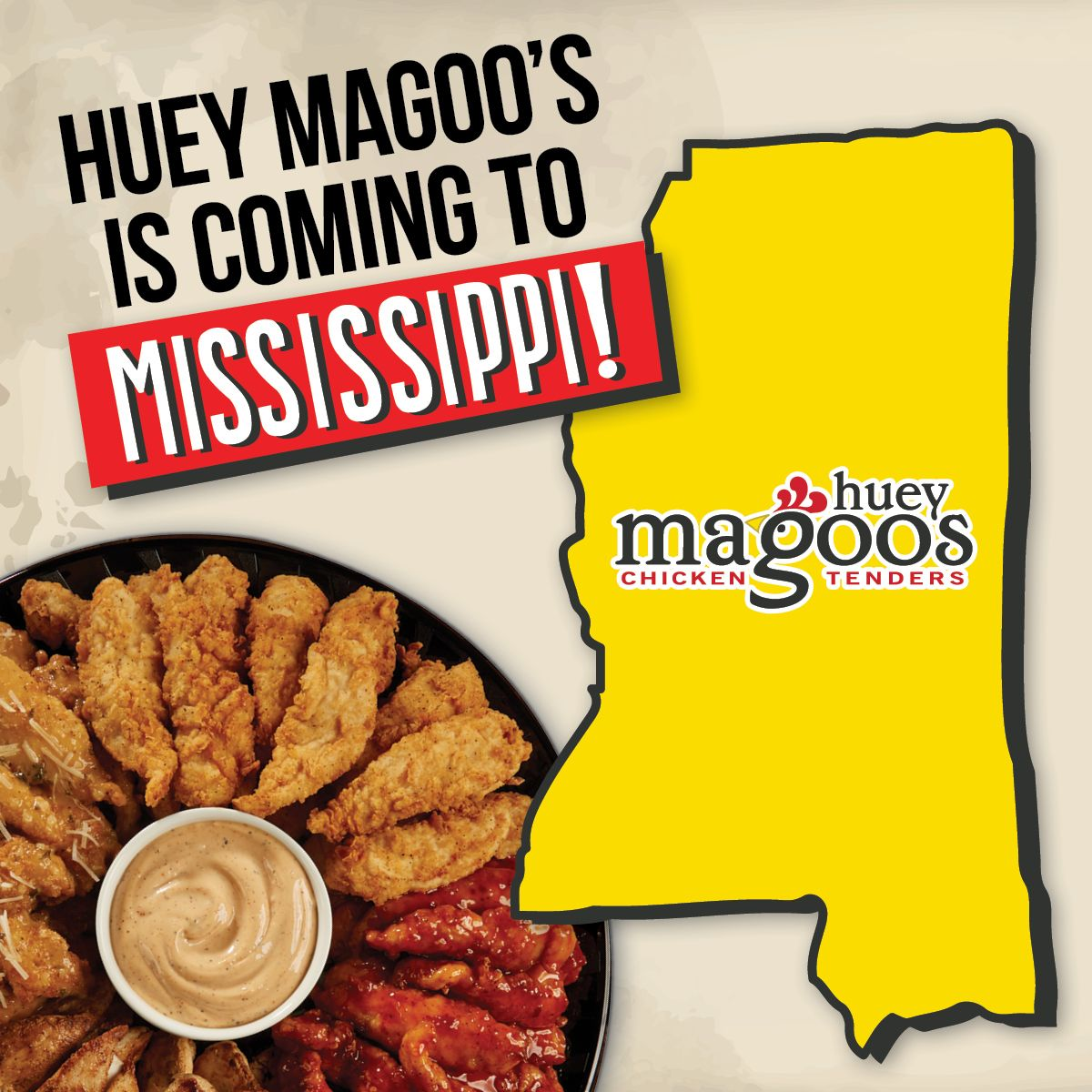 Huey Magoo's Chicken Tenders Announce Expansion To Mississippi