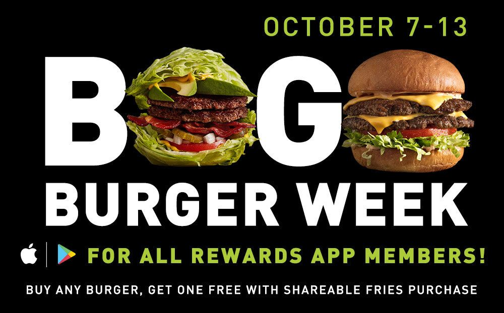 MOOYAH Burgers, Fries & Shakes Is Celebrating BOGO Burger Week from October 7 to 13, 2019 at Participating Locations