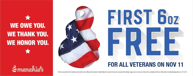 Menchie's Frozen Yogurt Honors Servicemen and Women with Free Frozen Yogurt on Veterans Day
