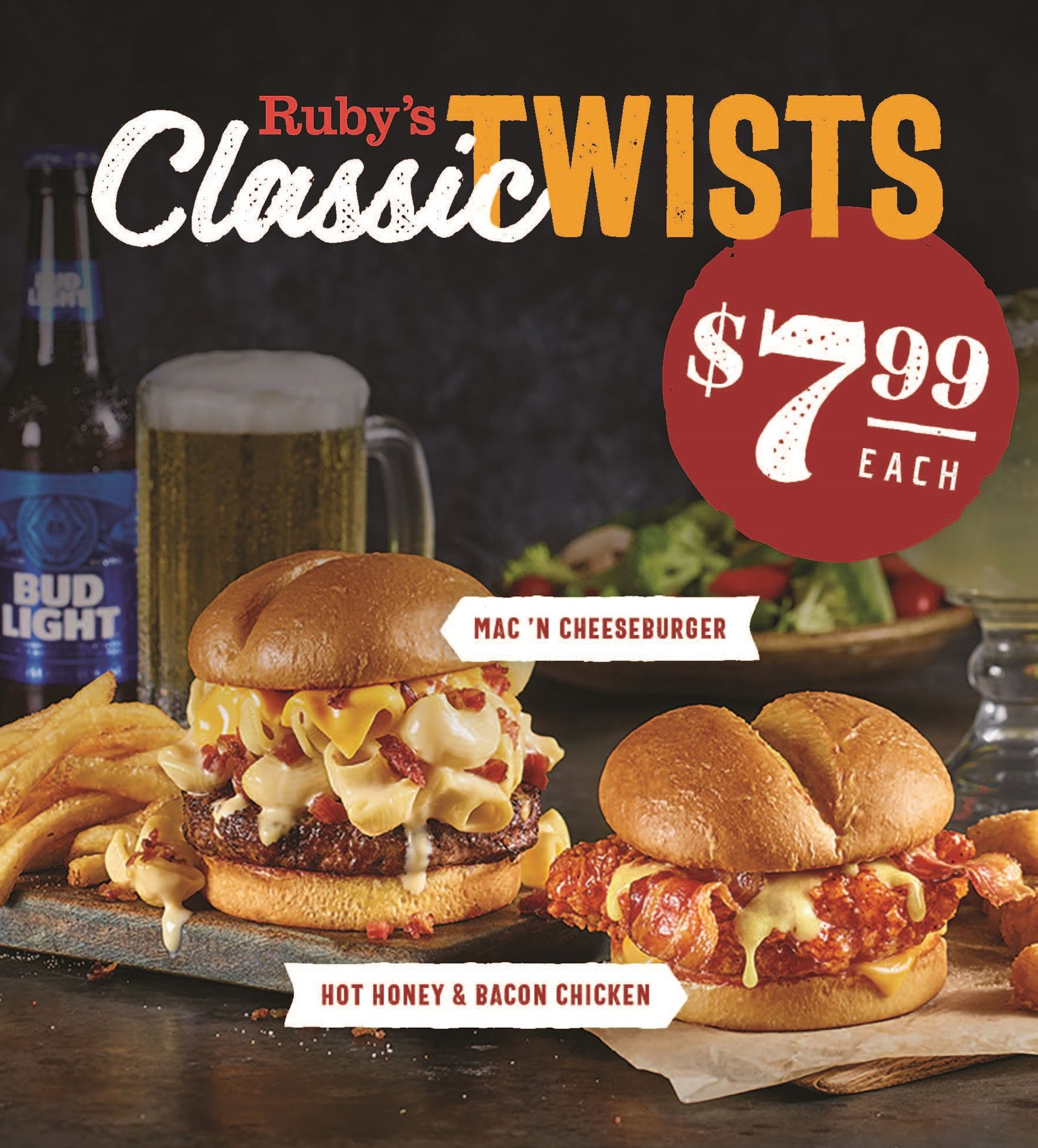 Ruby Tuesday's New Classic Twists Meals Deliver Big Flavor at a Small Price