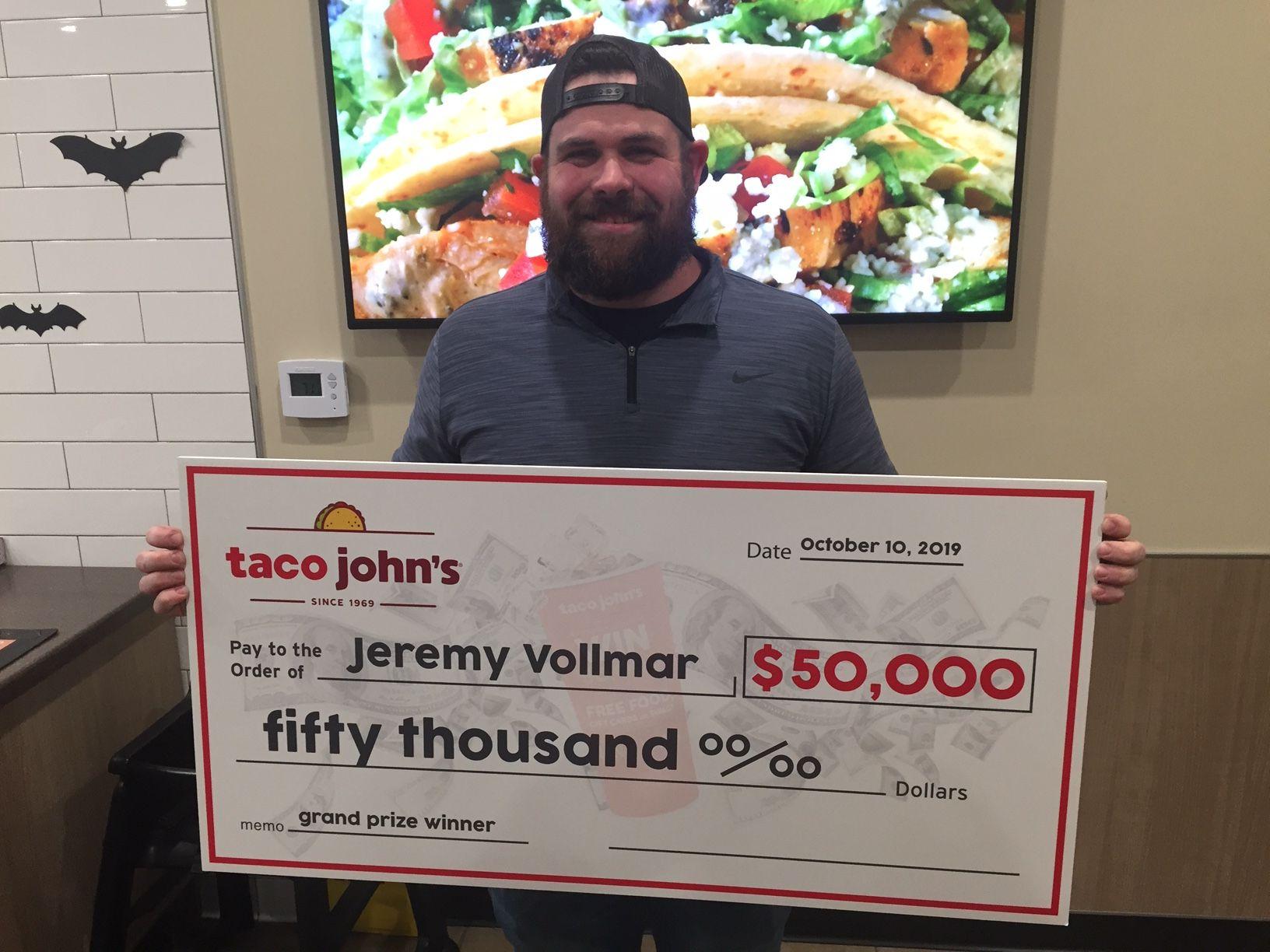 Shawano Resident Wins $50,000 From Taco John's
