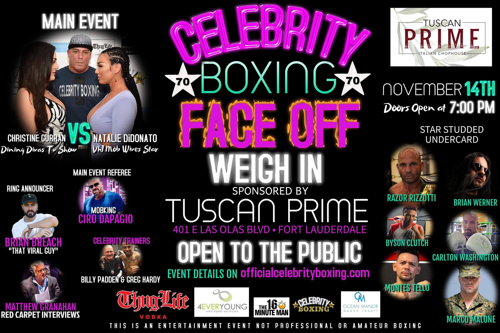 Celebrity Boxing is Coming to Tuscan Prime!