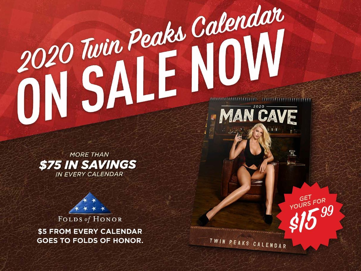 Step Inside the Twin Peaks Man Cave with 2020 Calendar