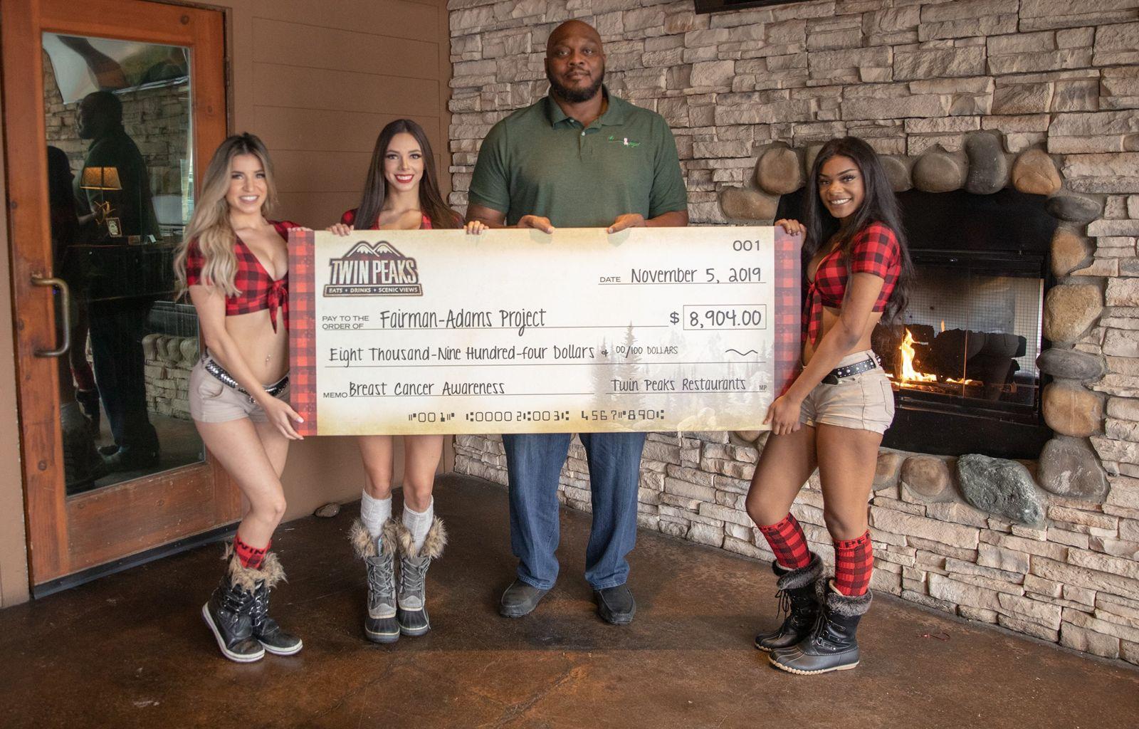 Twin Peaks Donates Nearly $9,000 to Fairman Adams Project
