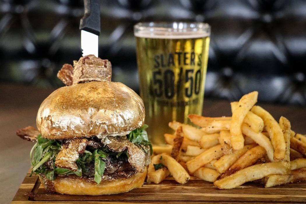 Slater's 50/50 NYE Ball Drop 24k Burger