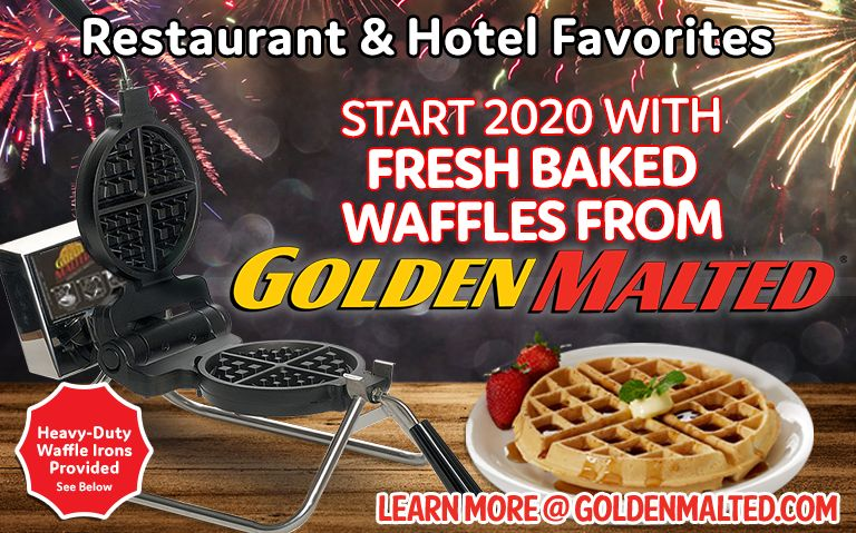 Start 2020 With Fresh Baked Waffles From Golden Malted